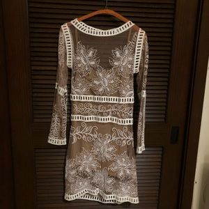 For Love & Lemons White Lace Dress Size S